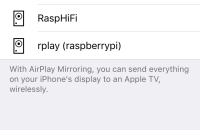 Shairport appearing into iOS Airplay list