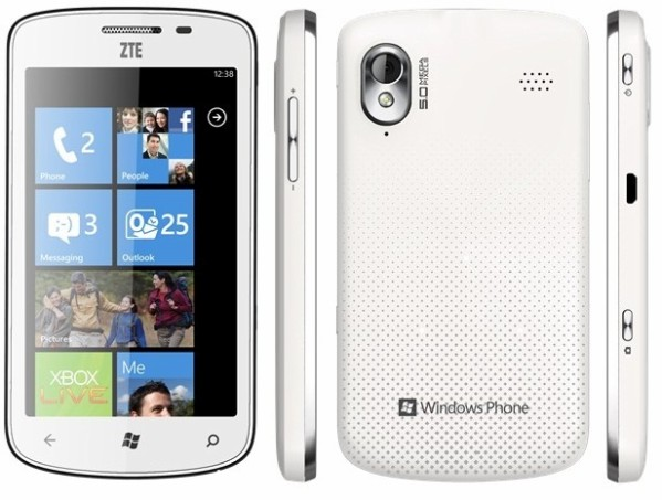 Affordable ZTE Tania Windows Phone officially announced in the UK