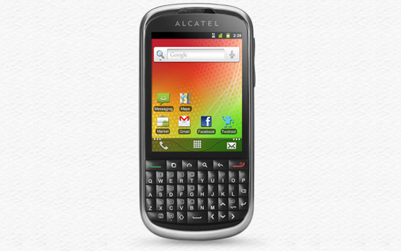 Alcatel OT-915 with Android and QWERTY keyboard shows up