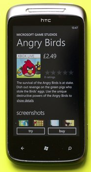 Angry Birds fly towards Windows Phone 7