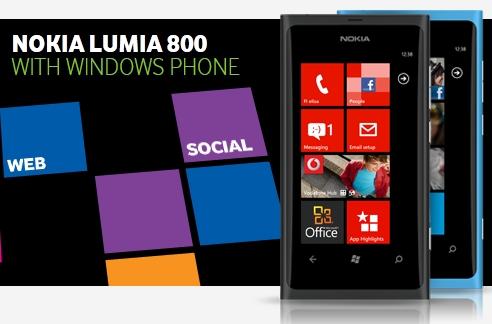 Pre-order your black Nokia Lumia 800 at Vodafone UK