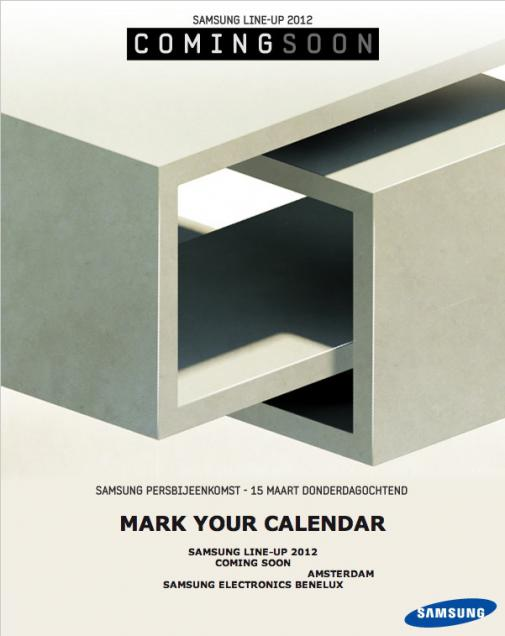 Samsung will present its mobile lineup for 2012 on March 15