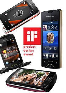 Sony Ericsson Xperia range receives important design awards