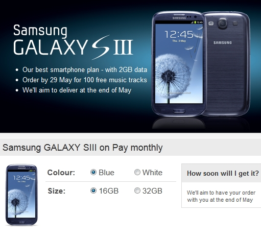 Samsung Galaxy S III - Vodafone UK's most pre-ordered Android device ever