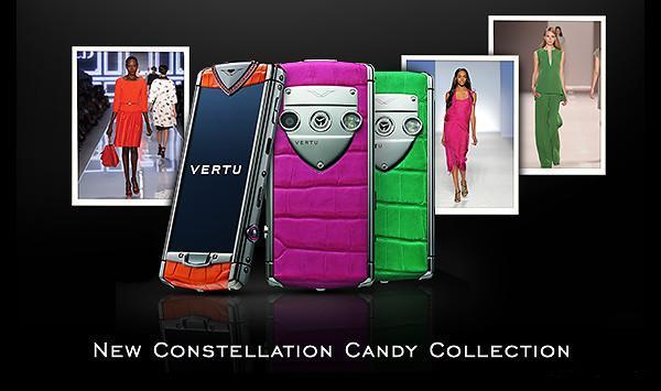Vertu presents the new Constellation Candy phones