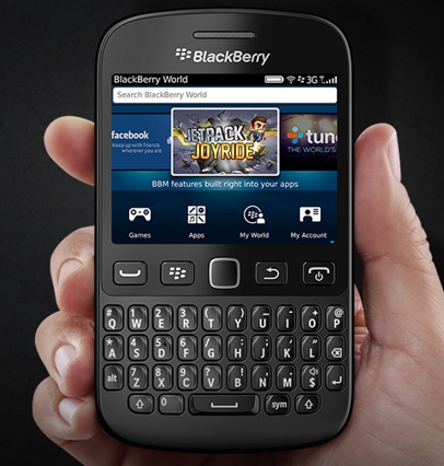 BlackBerry 9720 is a new smartphone with an old design