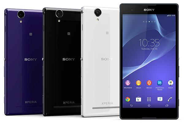 Sony officially announces the Xperia T2 Ultra and Xperia E1