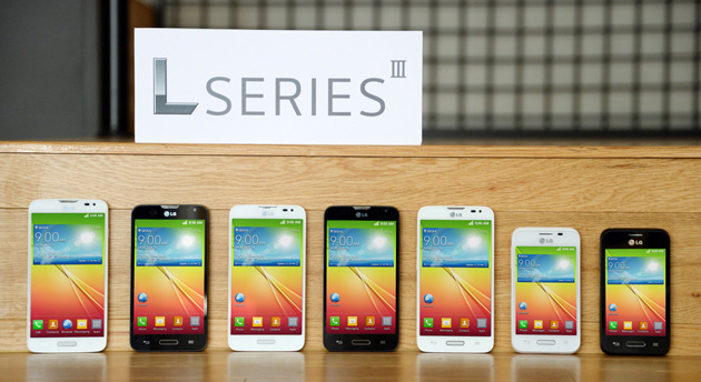 Check out the new LG L Series III trio of smartphones