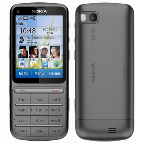 touchscreen display, the Nokia ClearBlack LCD. The resol
